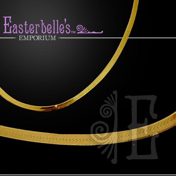 Vintage 14k Yellow Gold Herringbone Link Necklace