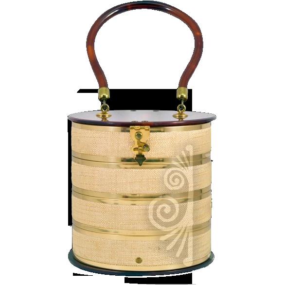 Vintage Very Unusual Dorset-Rex Fifth Avenue Cylindrical Handbag