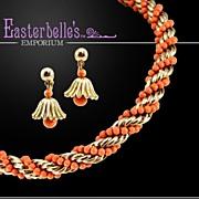 Sensational Napier Vintage Earrings and Necklace Set