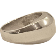 Classic Abstract Dome Vintage Sterling Ring