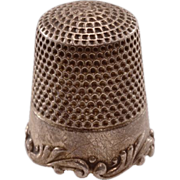 Highly Collectible Antique Ketcham & McDougall Sterling Silver Thimble - Louis XV Pattern