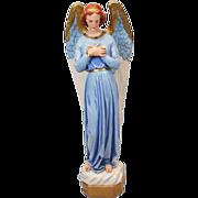 Beautiful Vintage Chalkware Angel Statue - Almost 4 Feet Tall