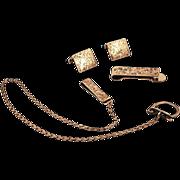 ca 1900s .950 Sterling Rare Very Handsome Gentleman's Accessories Set