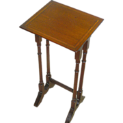 Small Mahogany, inlay, side table, circa 1930, all original