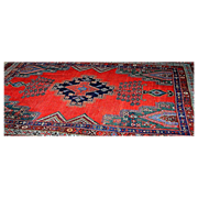Oriental rug: Hamadan: Vintage : cotton and wool, Extremely Fine!