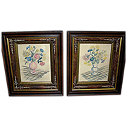 Matching Primitive Frames with folk art watercolors from the 19th century