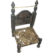 Pakistani low chair, hand made, 19th. c.
