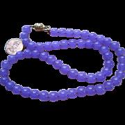 pretty retro Lavender Jade Bead Necklace