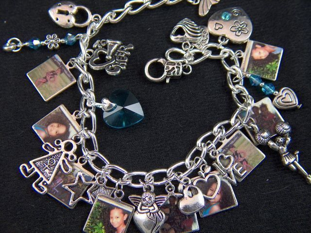 Personalized Photos Charm Bracelets or Bookmarks - Custom for You!