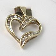 Estate 10K Diamond Heart