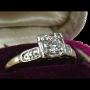 Estate 1940's 14K .45CT Diamond Ring