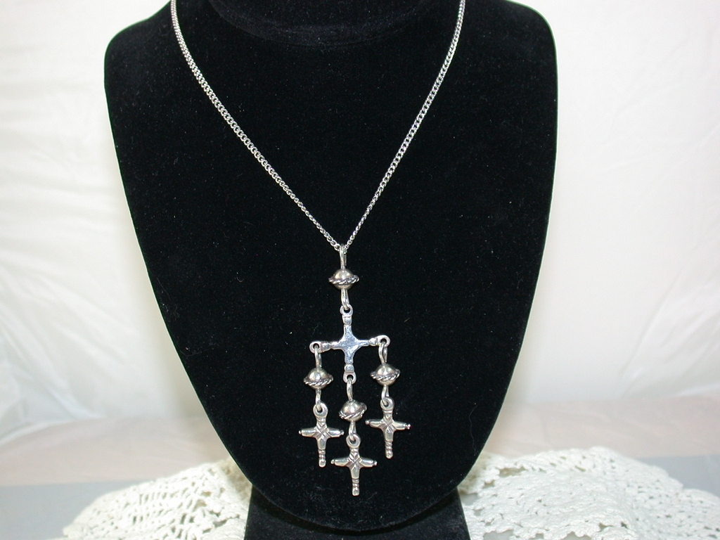 Taxco Mexico Sterling Chandelier Pendant