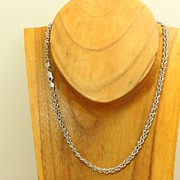 "Estate 18"" 14KW Woven Gold Chain"