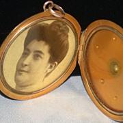 Vintage Diamond and 9C Gold  Locket