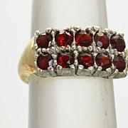 14K/Platinum 1.5 CT Garnet Ring