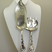 International Silver 'Mille Fiore' Sterling Fish Set