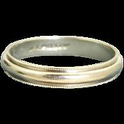 Estate Jabel 18 K White Gold Band