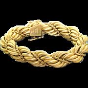 Estate Solid 18 K Tiffany Twisted Rope Bracelet