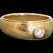SALE 14 K Lohengrin Gent's  0.25 CT Old European Cut Diamond