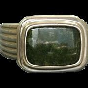 Retired Slane & Slane Green Jasper Sterling Ring