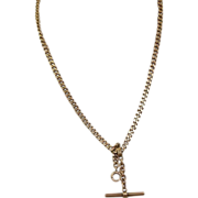 "14 K  18"" Albert Watch Chain"