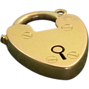 15 CT English Heart Padlock Charm
