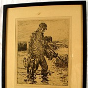 Modern Masters Of Etching Frank W Benson Book & Framed Art