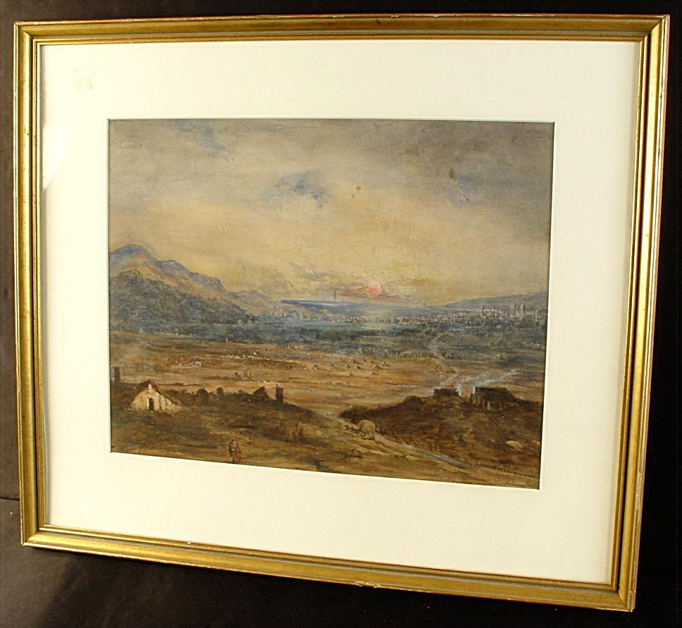 Signed Scenic Watercolor By Sabina Jervis Edwards With Frame