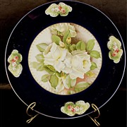 Lovely Rosenthal Bavaria Hand Painted Charger by artist Tilberth