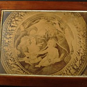 SALE Antique Lithograph  Madonna Of The Magnificat With Frame