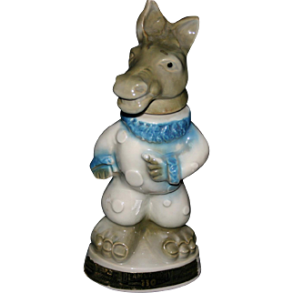 SALE Democratic Donkey regal china pottery 1968 whiskey decanter Jim Beam