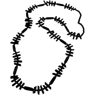 Extra Long Black Branch Coral Necklace Endless Rare
