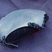 Sassy Cocktail Hat, Black Velvet, 1940s, Hattie Carnegie
