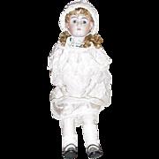 Life Size Heinreich Handwerck Doll, Open Mouth, Sleepy Blue Eyes