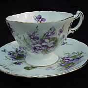 Hammersley Spring Violets English Bone China Cup and Saucer
