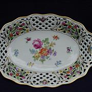 Schumann Bavaria, U.S. Zone, Germany, Porcelain Bowl, Dresden Flowers