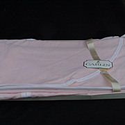 Carlin Boutique Twin Coverlets in Pink, Edged in White, West Point Pepperel