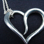 Sterling Heart Pendant and Chain