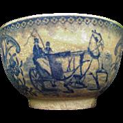 Gien Blue Transferware Tea Bowl, Porcelain Opaque