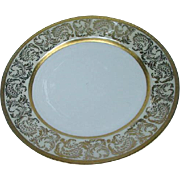 Four Gold Decorated Arzberg Germany Plates, Wheeling Glass Co.