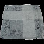 SALE Vintage Drawn Work & Embroidered Linen Handkerchief