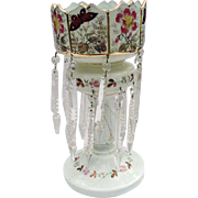 Large Single Mantle Luster with Hand-Painted Butterflies and Flowers