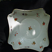 "Enoch Wedgwood, Tunstall, England ""Lowestoft"" Centerpiece Bowl, Floral Blossoms"