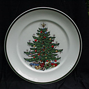 Vintage Cuthbertson Christmas Tree  Dinner Plate