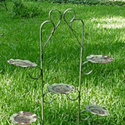 Vintage Painted Wrought Iron Plant Stand