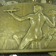 1920s Bronze Plaque, Raoul Lamourdedieu, French Sculptor