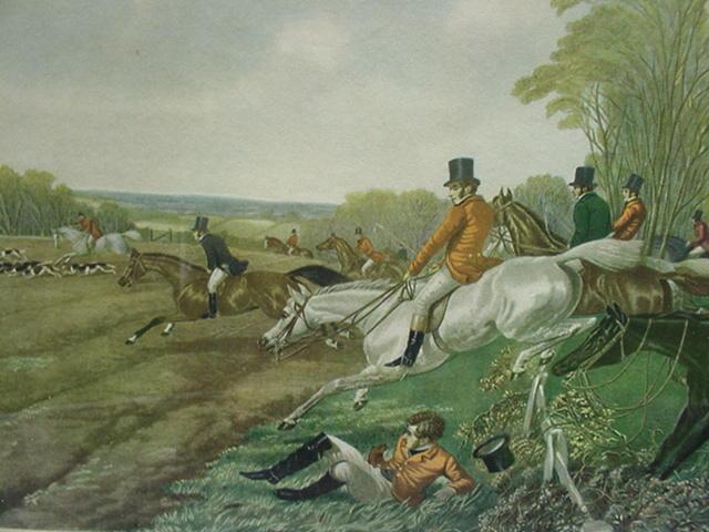 Herring's Full Cry, Vintage Horse Print, New York Graphics Society