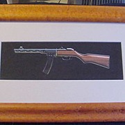 Original Illustration of Gun for Popular Mechanics Magazine, c. 1970s