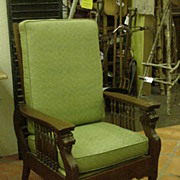 Morris Type Reclining Chair by Cooke & Sons, 1903, Original Brass Label