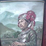 Vintage Oil on Board Figurative Study of Southeast Asian Hill Tribe Woman